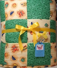 baby boy quilt or baby girl bedding
