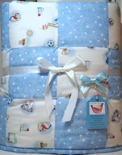 Cute ABC Baby Boy Quilt