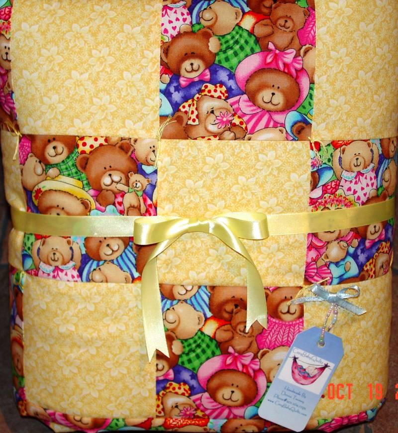 Teddy Bear baby quilt