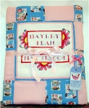 personalized baby girl quilt