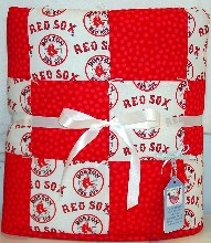 Boston Red Sox Handmade Baby Quilt