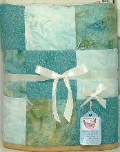 Arctic Ocean Blue Bassinet Baby Quilt