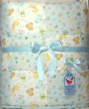 Crunch and Munch Zoo Friends Baby Boy Quilt