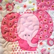 baby quilt fabric detail