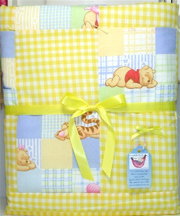 handmade baby girl or boy quilt