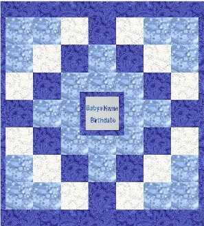 personalized baby quilt design 4